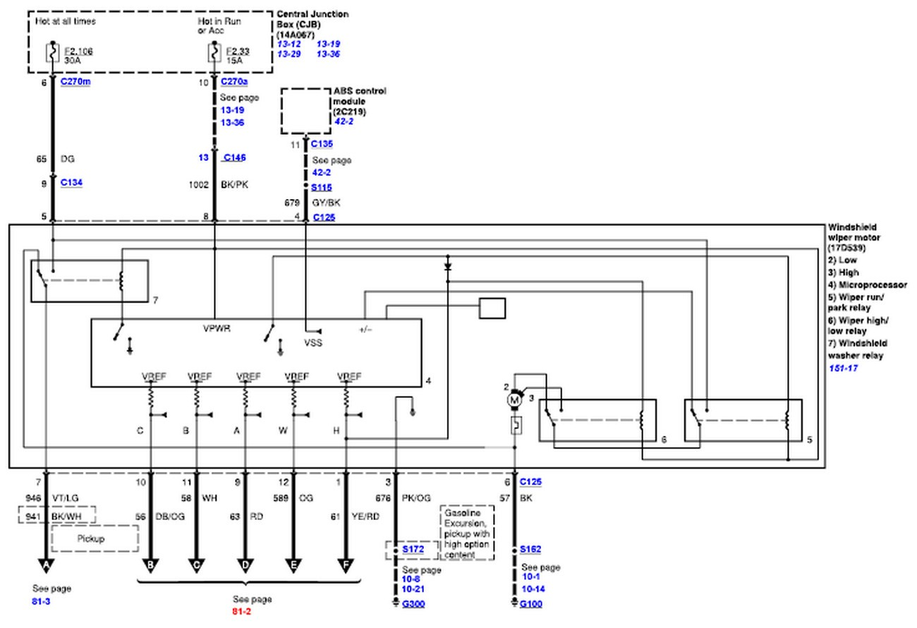 Wiper Motor Wiring Diagram For 2008