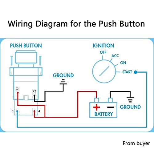 wiring diagram 4+1start push carbon fiber panel button car ignition engine  racing toggle switch
