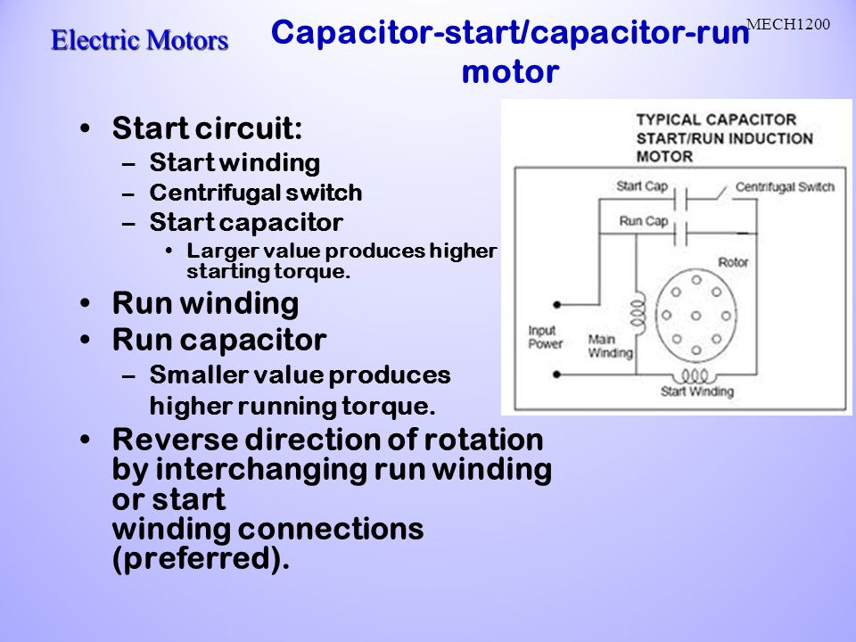 Wiring Diagram Compressor Capacitor Start Capacitor Run Fractional H P  Motor 240 Volt Ac