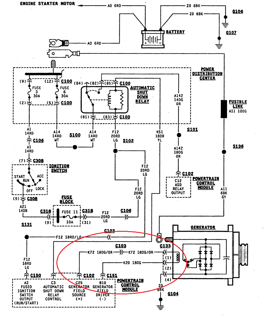 Wiring Diagram Engine Control Module 1995 Jeep Wrangler Mur400