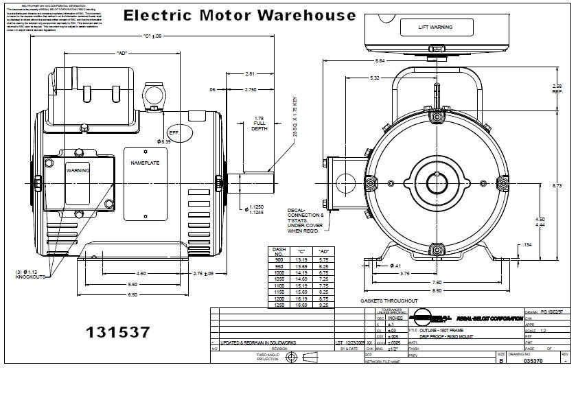 Wiring Diagram For 115  230 3  4 Hp Ac Motor