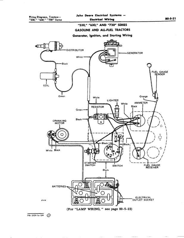 Wiring Diagram For 12 Volt 3010 John Deere Tractor