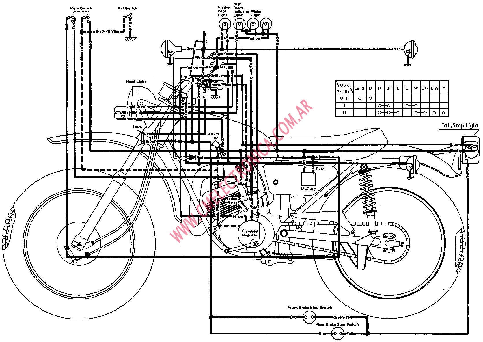 Wiring Diagram For 1974 Yamaha Dt 175a on