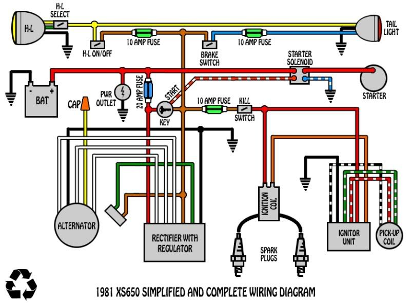 Wiring Diagram For 1979 Yamaha Xs650