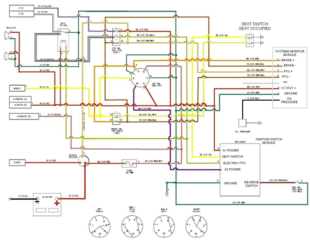 Wiring Diagram For 1998 John Deere 425 For Starter And Solenoid on