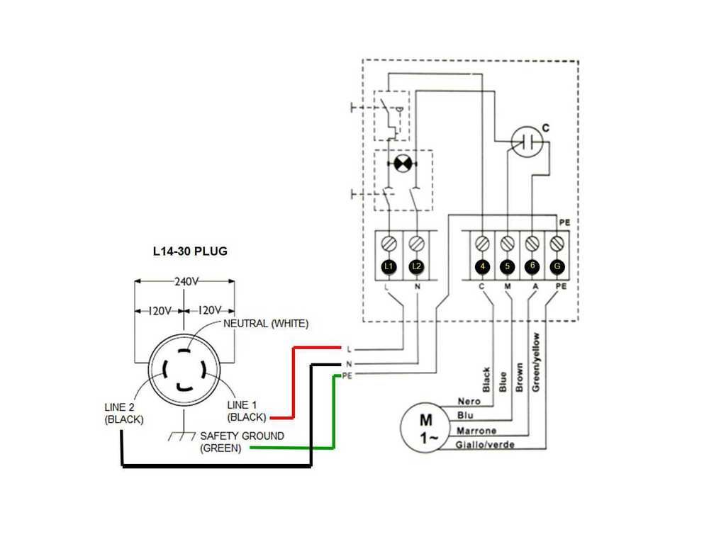 Wiring Diagram For 4 Prong 30amp 220v Generator Twist Plug