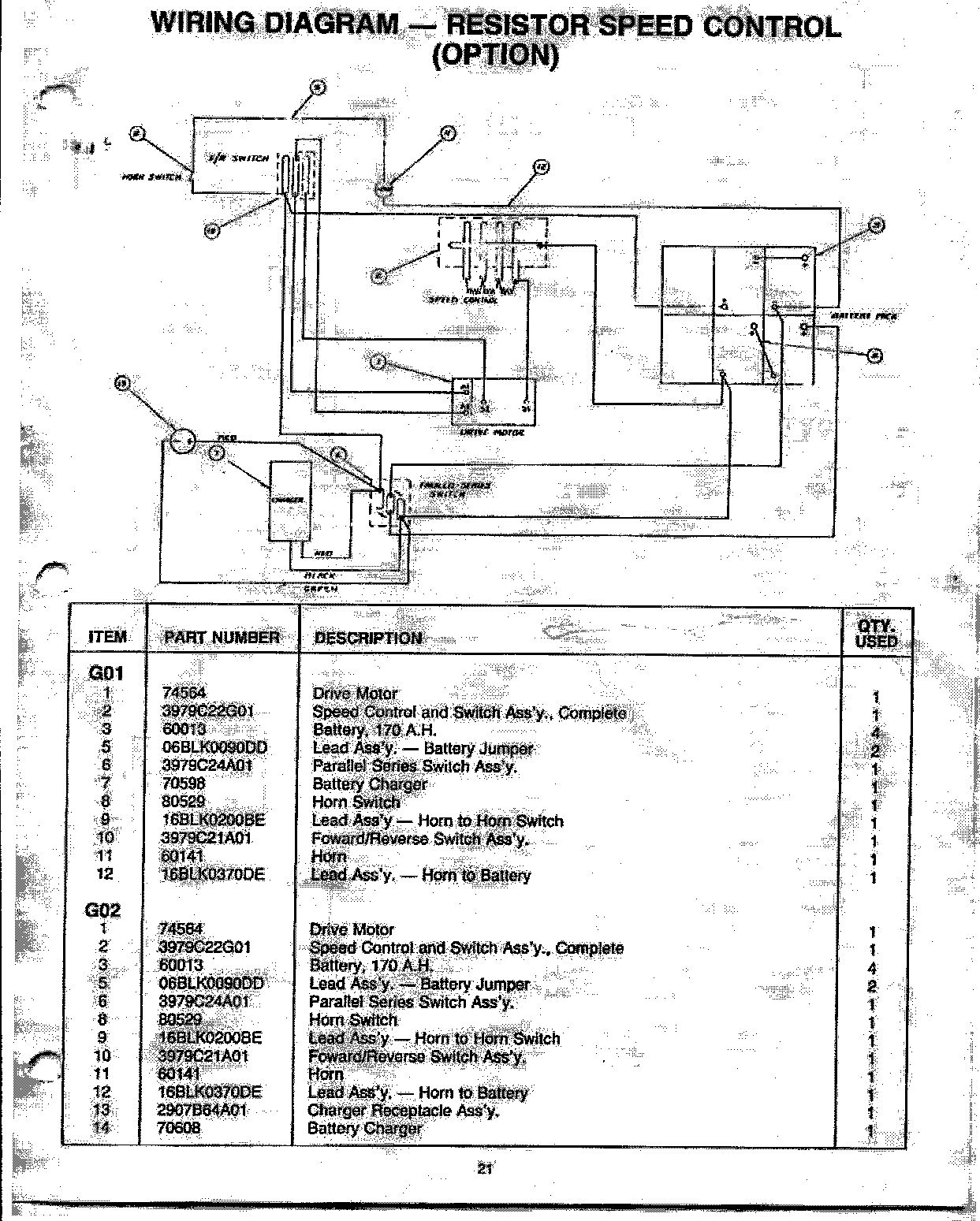 Wiring Diagram For 437 Westinghouse Golf Cart