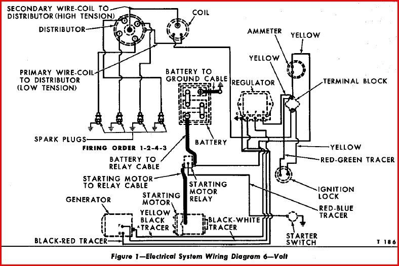 wiring diagram for 6v tractor voltage regulator positive