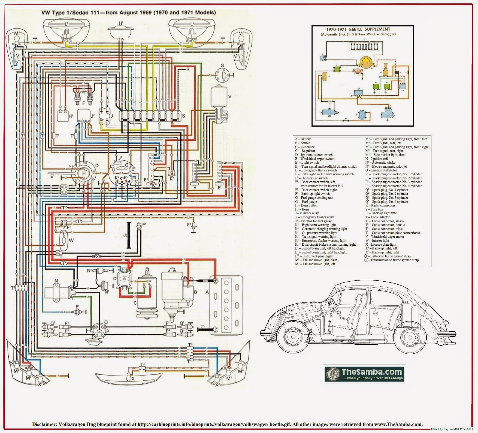 Wiring Diagram For A 1977 Vw Superbeetle on