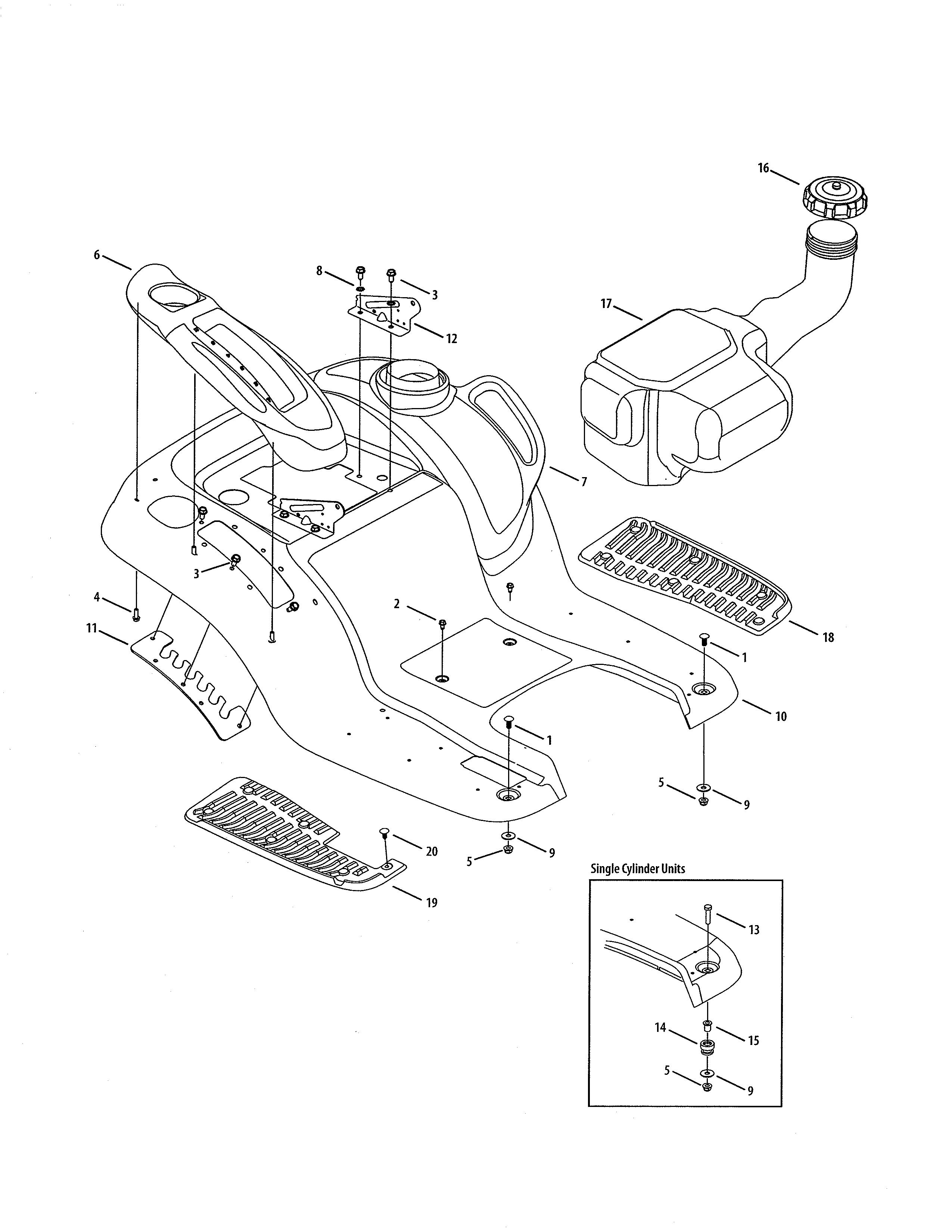 Wiring Diagram For A Cub Cadet Model 19016