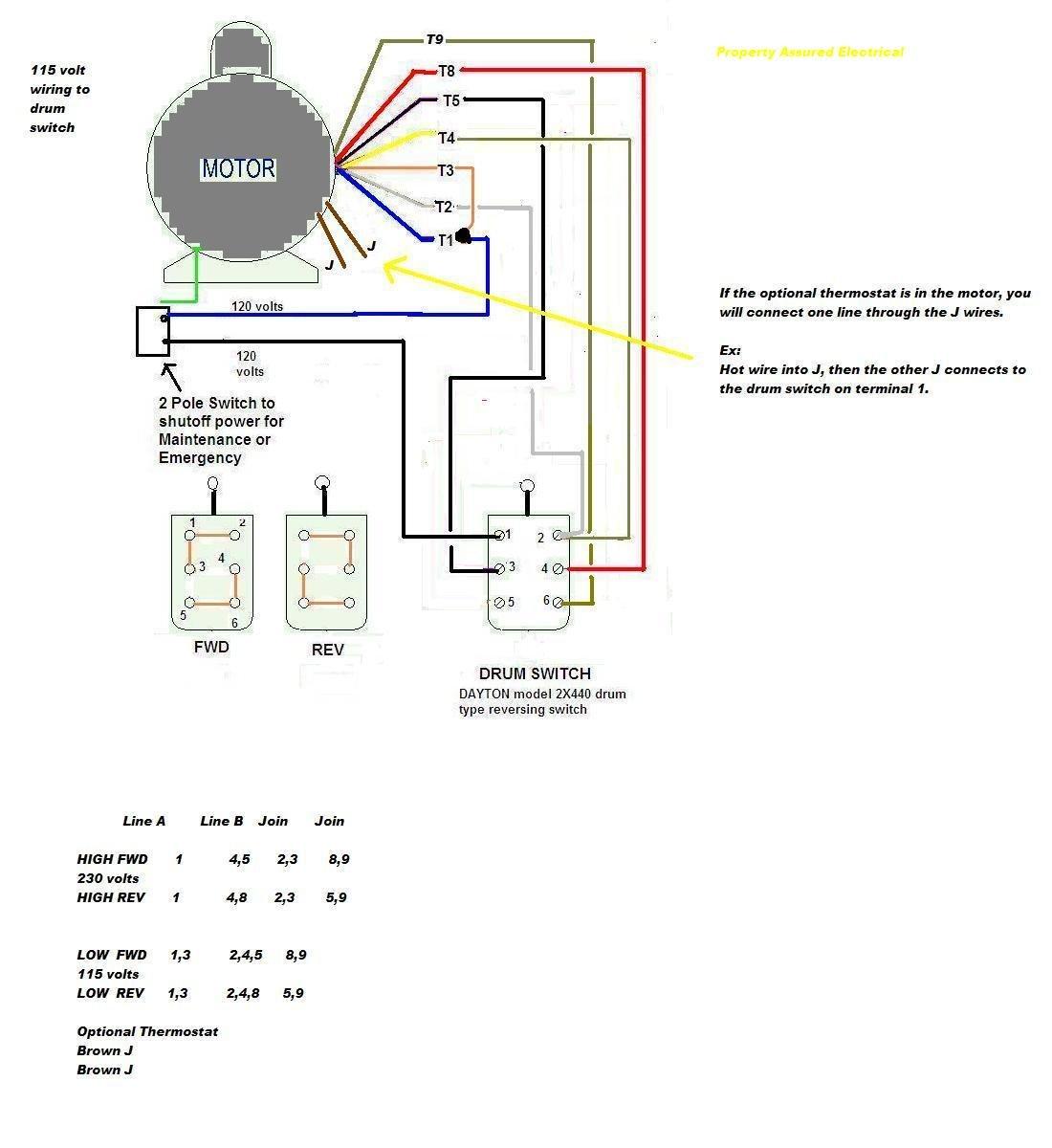 Wiring Diagram For A Dayton 4x796 Motor Speed Control
