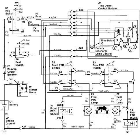 Wiring Diagram For A John Deere Z225 Lawn Mower on