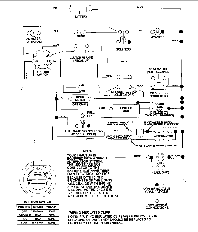 Wiring Diagram For A Lt1000 Craftsman Mower Kohler on
