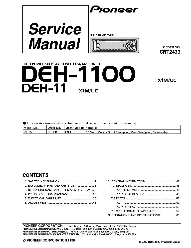 pioneer deh x56hd wiring diagram pioneer deh 1000 wiring diagram wiring diagram for a pioneer deh 245 stereo
