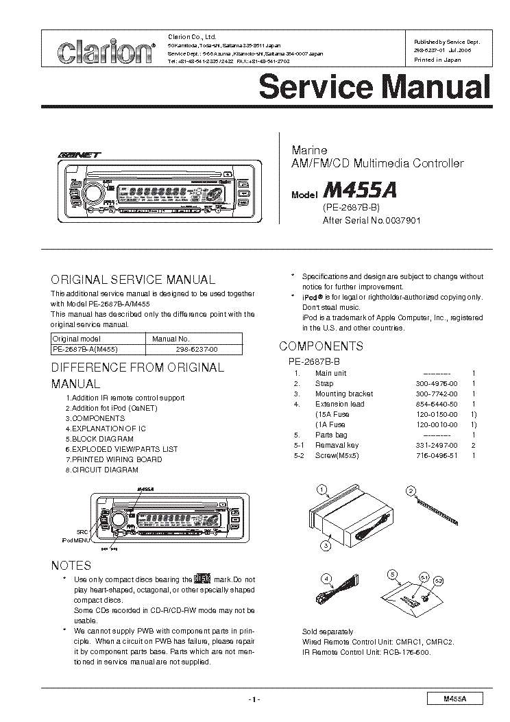 Wiring Diagram For Clarion Vz400