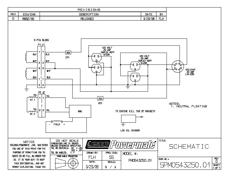 Wiring Diagram For Coleman Generator  0525300 19