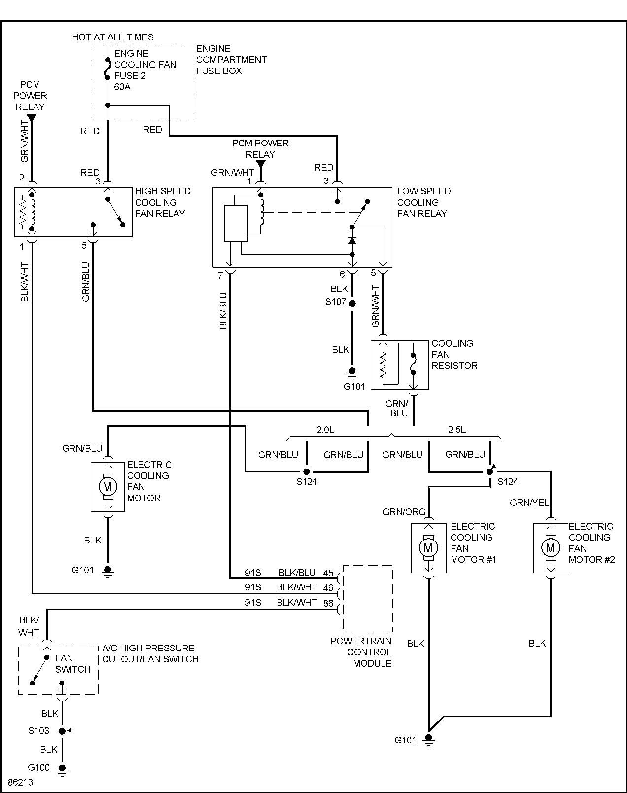 Diagram Wiring Diagram For Cooling Fan Circuit On A 98 Sls