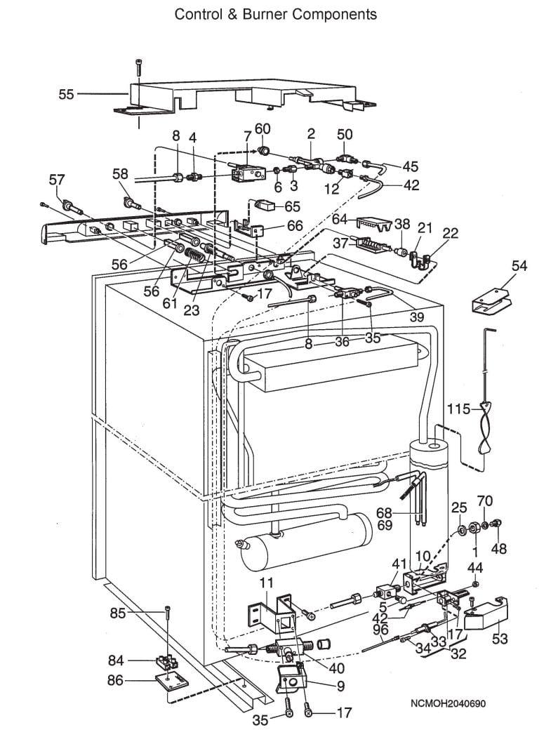 Dometic Refrigerator Wiring Diagram from schematron.org