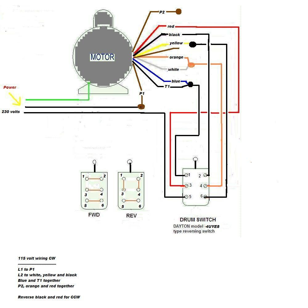 wiring diagram for electric motor for craftsman air compressor model  919 184190 240v