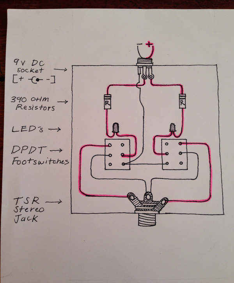 Guitar Footswitch Wiring Diagram