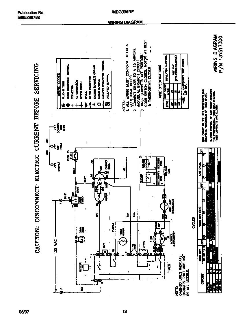 Wiring Diagram For Frigidaire Model Fgx831fs0 Washer Dryer Combo And Diagrams