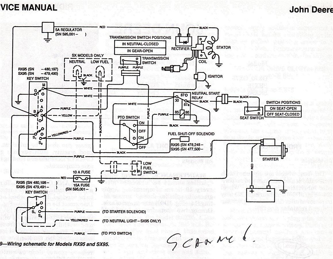 Wiring Diagram For John Deere L120 Lawn Tractor