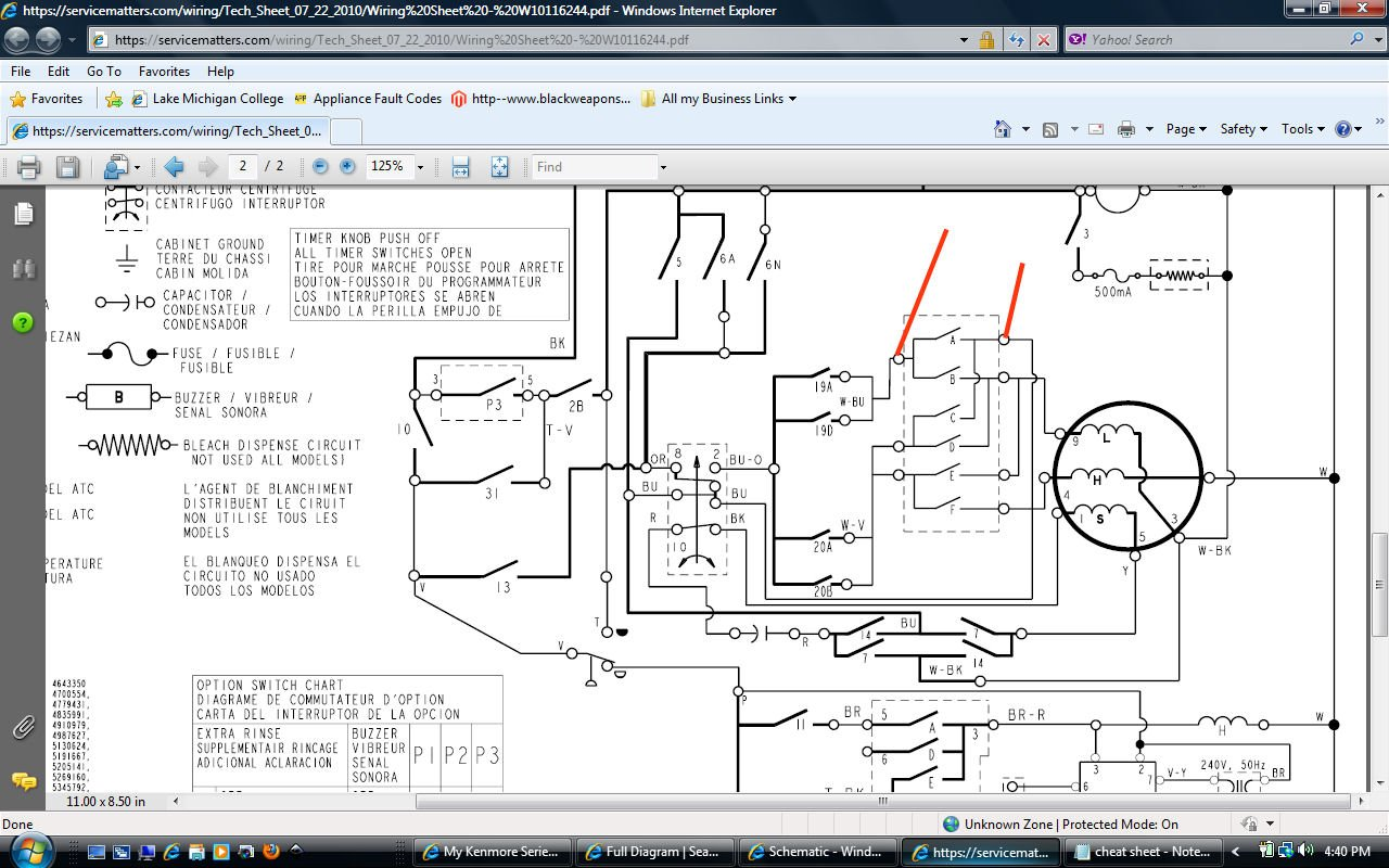 Wiring Diagram For Kenmore Dryer Timer Model 417