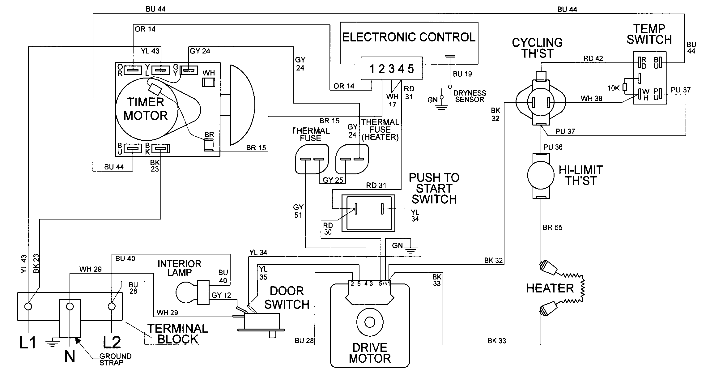 wiring diagram for maytag neptune dryer