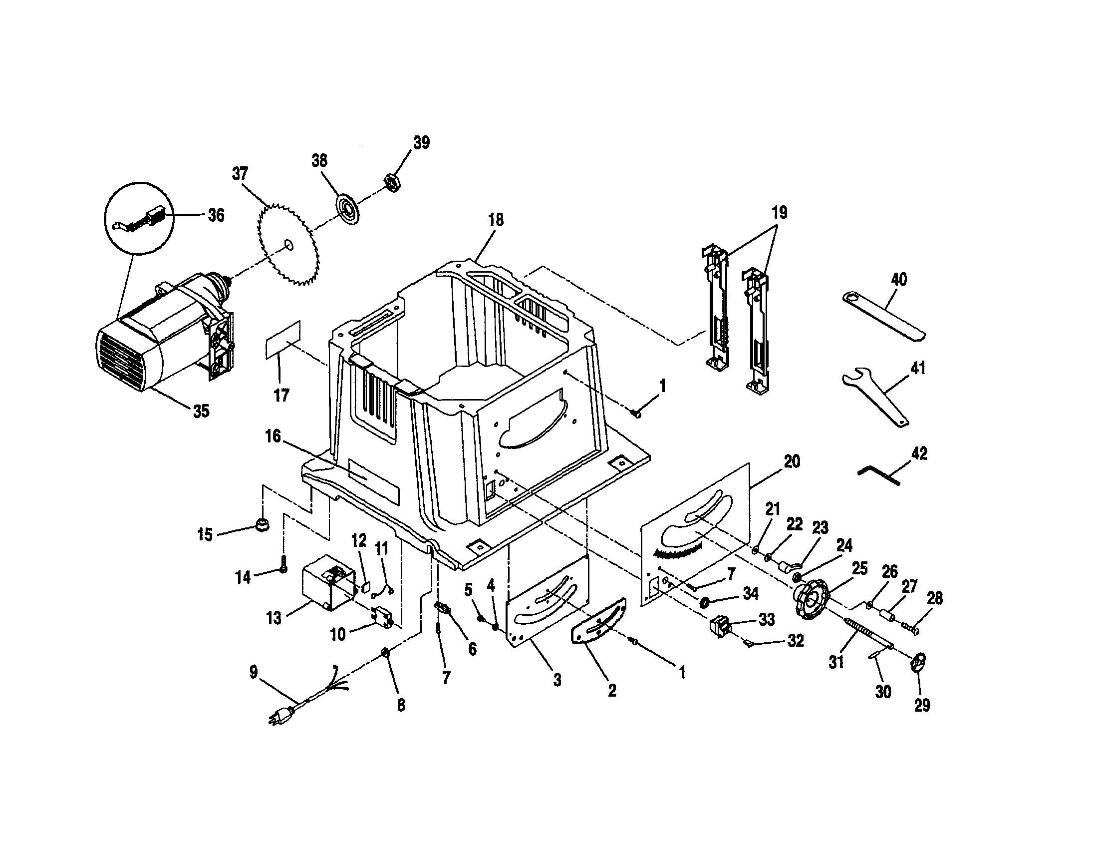 wiring diagram for ryobi table saw bts10 Wiring Diagram Fan