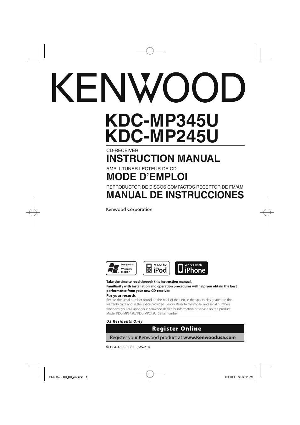 Wiring Diagram Kenwood Kdc Mp345u