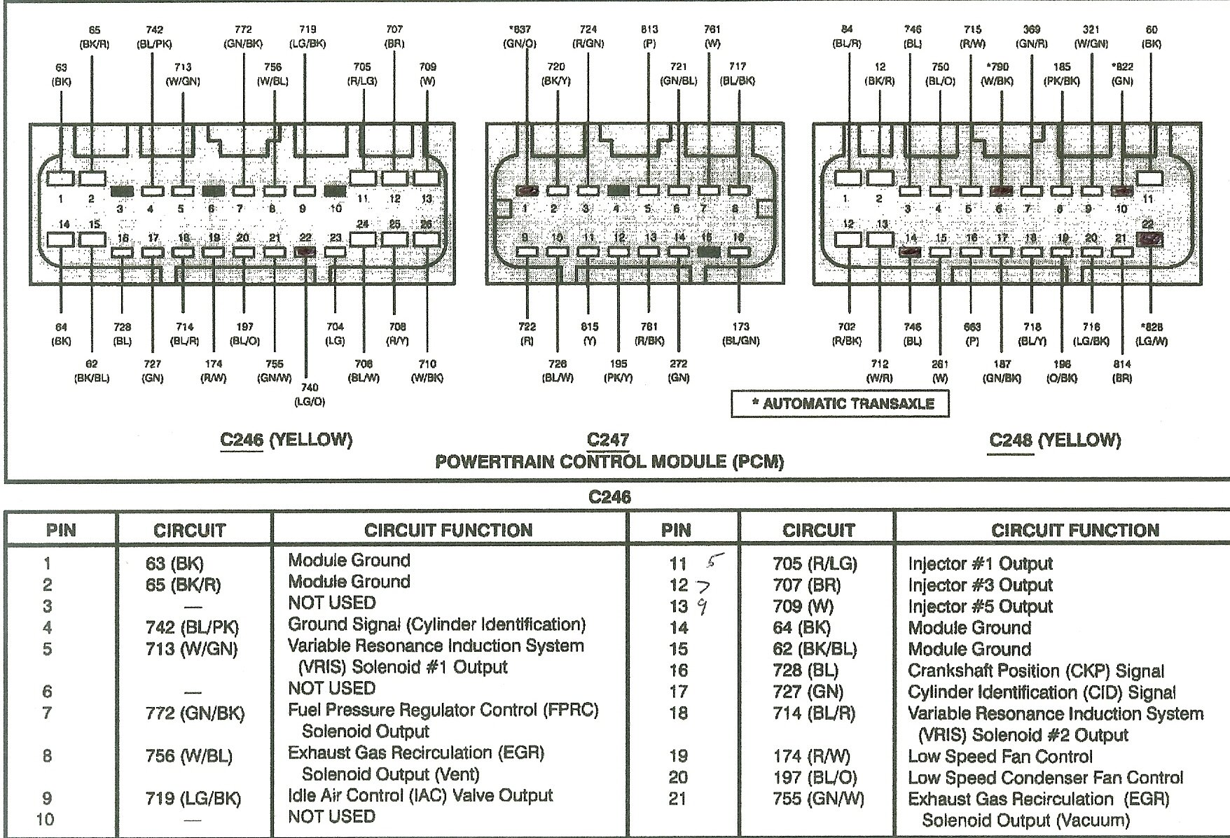 Wiring Diagram Pcm 252a Ford 6 0