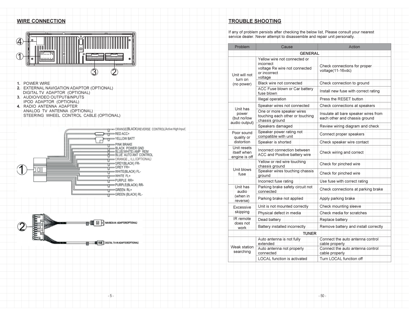 Wiring Diagram Soundstream Vrn