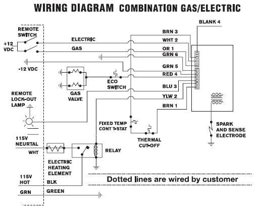 Wiring Diagram Suburban Water Heater 520569 Pilot Reignitor