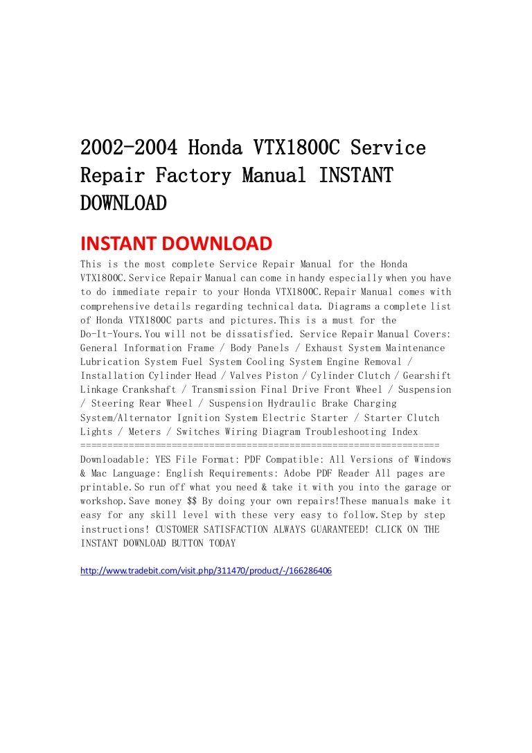 Wiring Diagram Vtx 1800c 2002