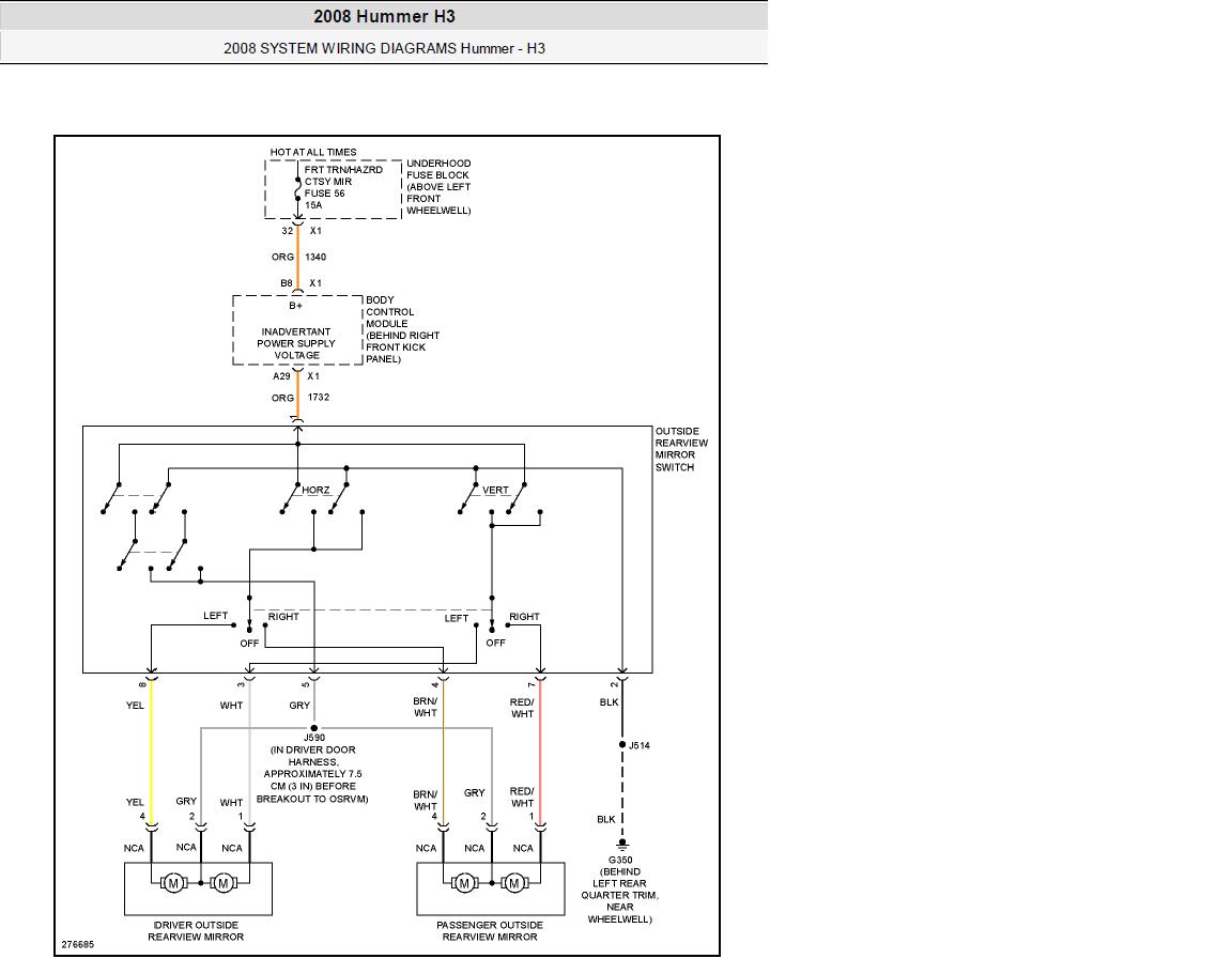 Hyundai H1 Electrical Systems Wiring