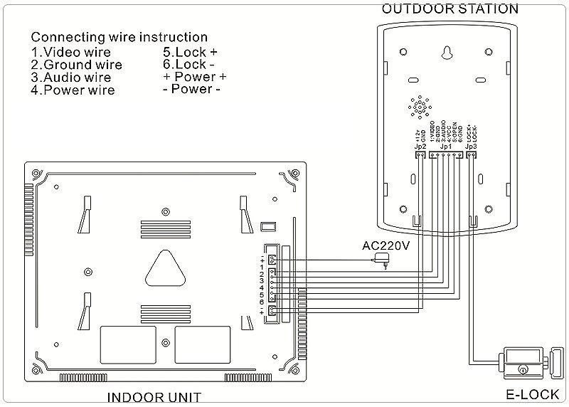 Xo Vision X358 Wiring Diagram on