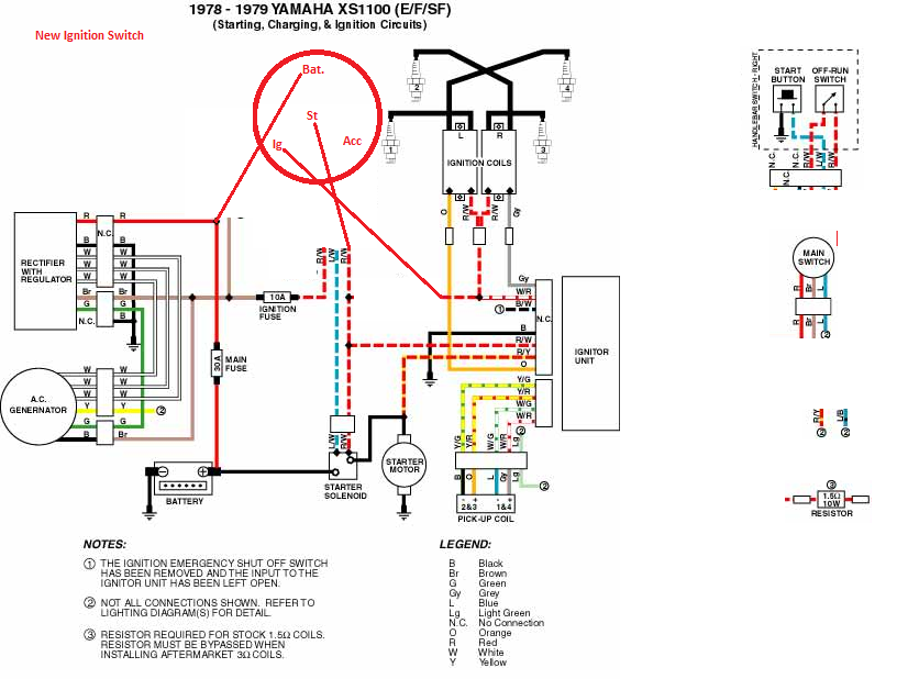 Wire Diagram Yamaha Xs1100 Bobber - Wiring Diagram Verified on