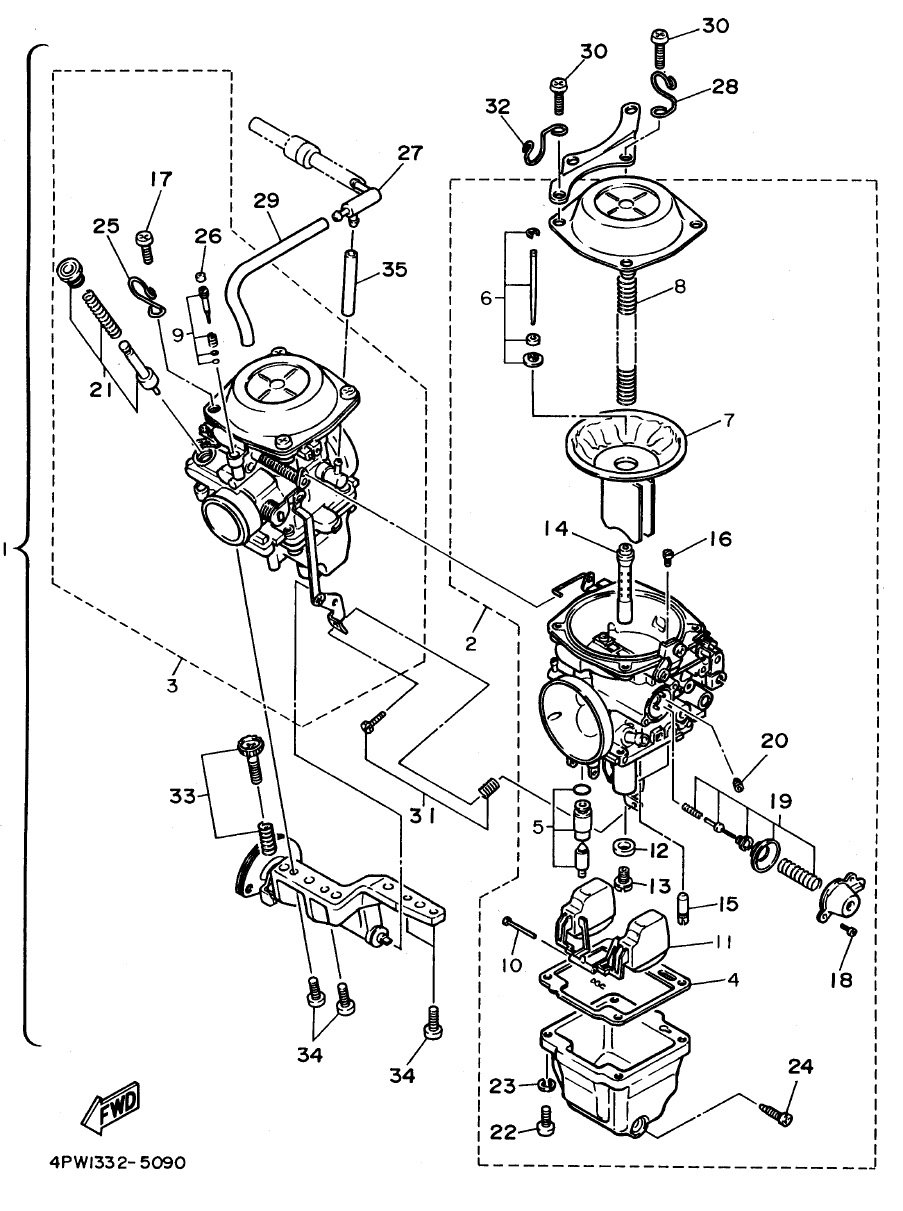 Yamaha 350 Warrior Carburetor Diagram