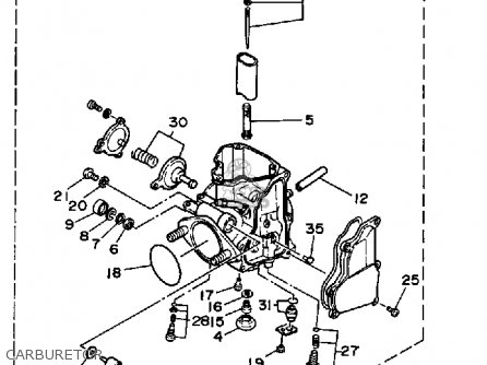 yamaha warrior carburetor diagram Yamaha Moto-4 ATV Wiring Diagram