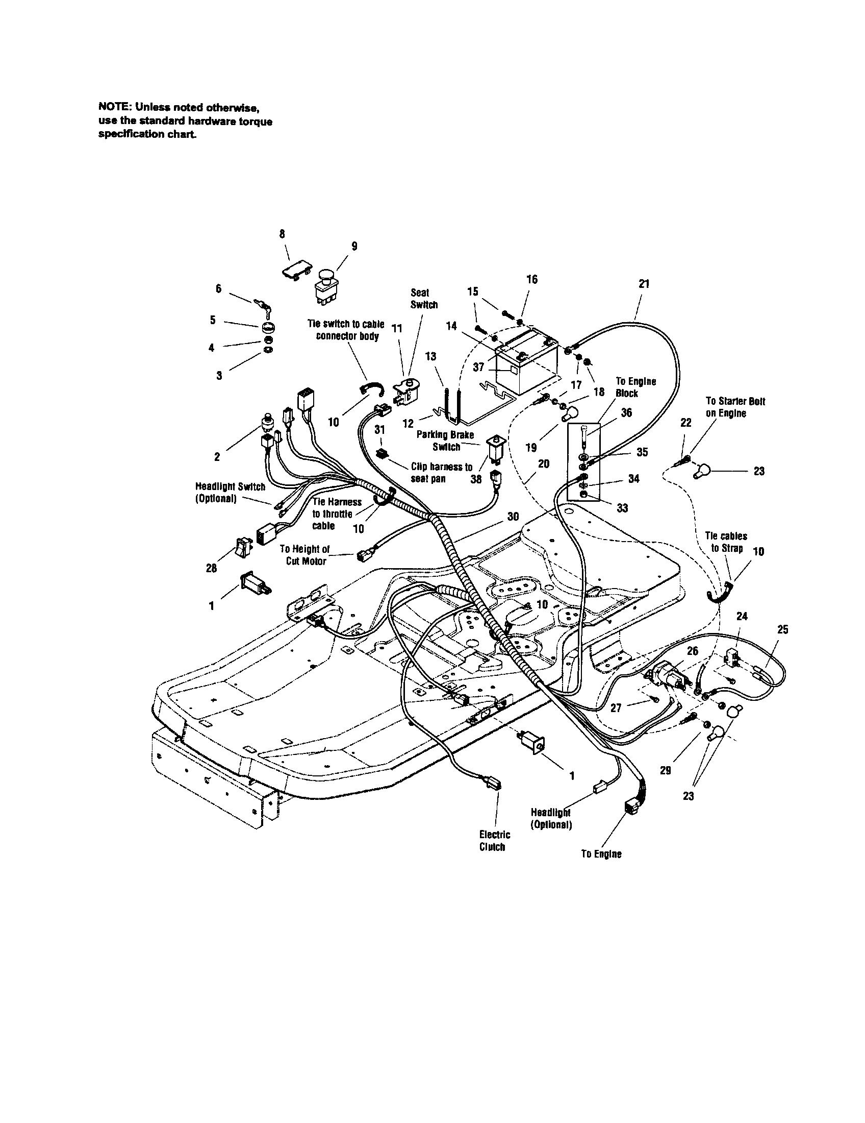 zts 7500 belt diagram Craftsman GT Mower Wiring Diagram